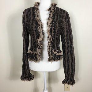 HWR Brown Wool Clasp Close Cardigan Sweater
